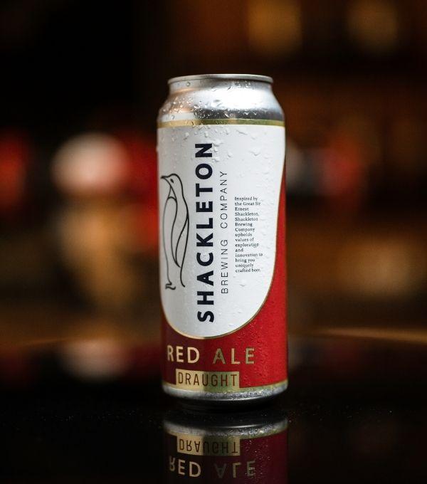 Shackleton Red Ale beer can