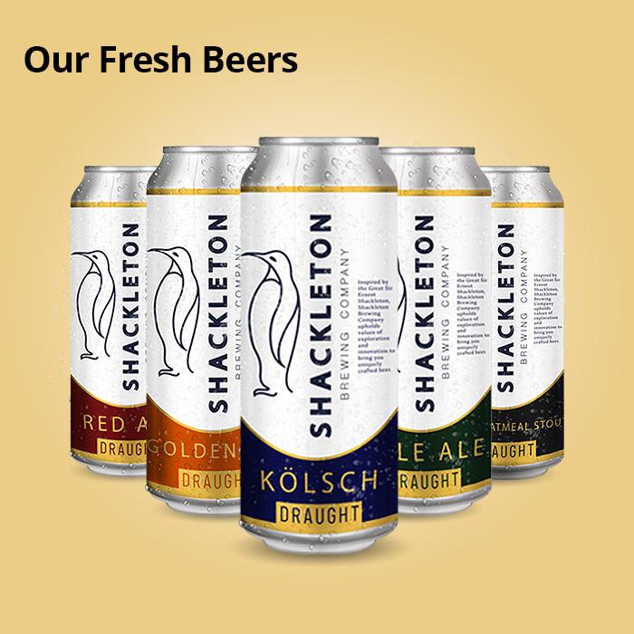 Shackleton beer cans