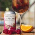 Shackleton Raspberry vodka iced tea poured in glass