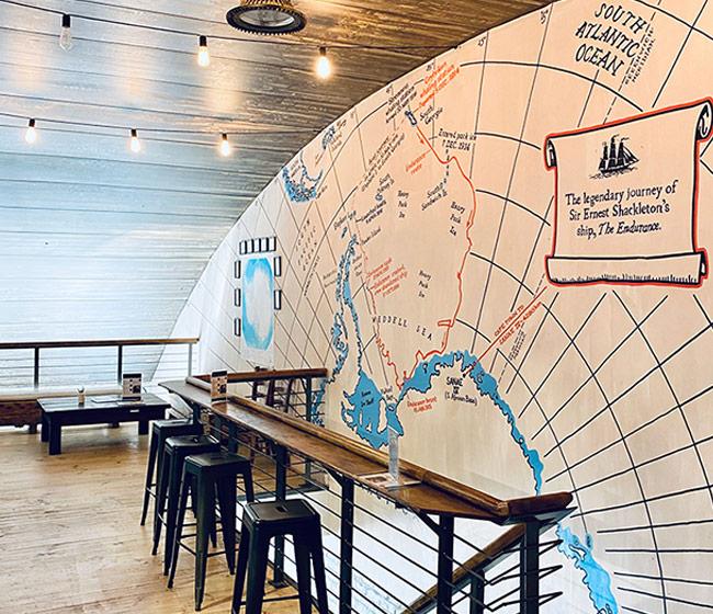 a map of Ernest Shackleton's journey