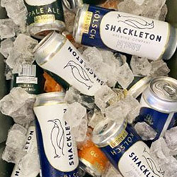 Shackleton beer in ice bucket